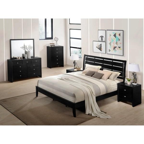Roundhill Furniture Gloria Panel 6 Piece Bedroom Set
