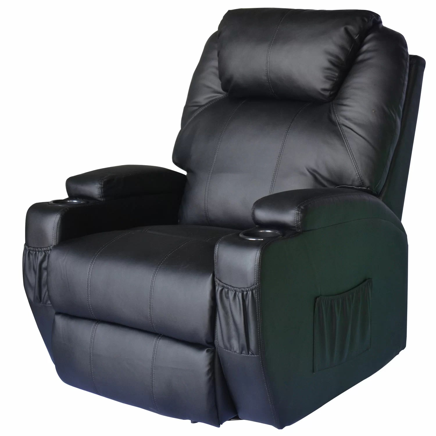 lazy boy massage chair revolving for sale in lahore outsunny homcom deluxe heated vibrating vinyl leather