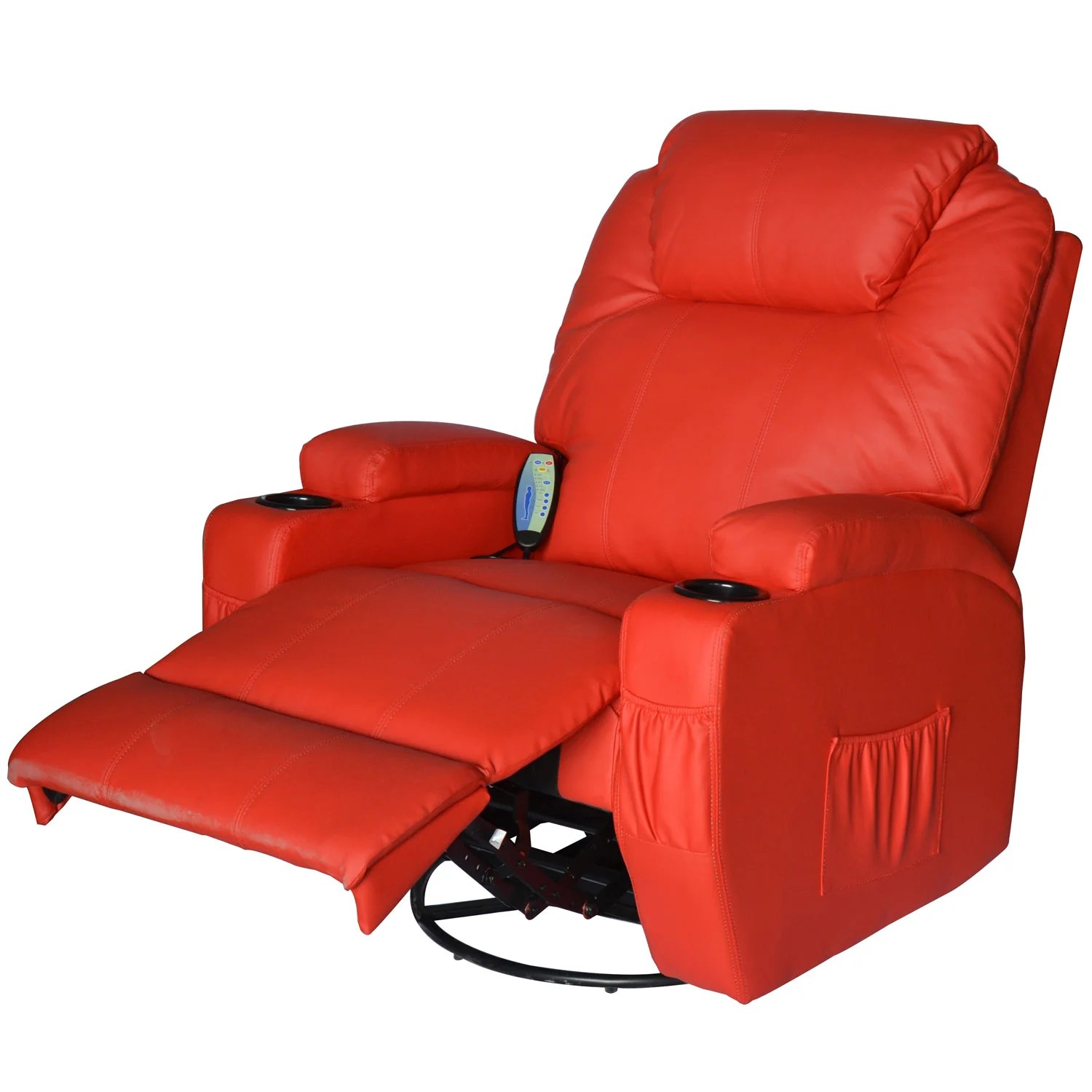 Vibrating Gaming Chair Outsunny Homcom Deluxe Heated Vibrating Vinyl Leather