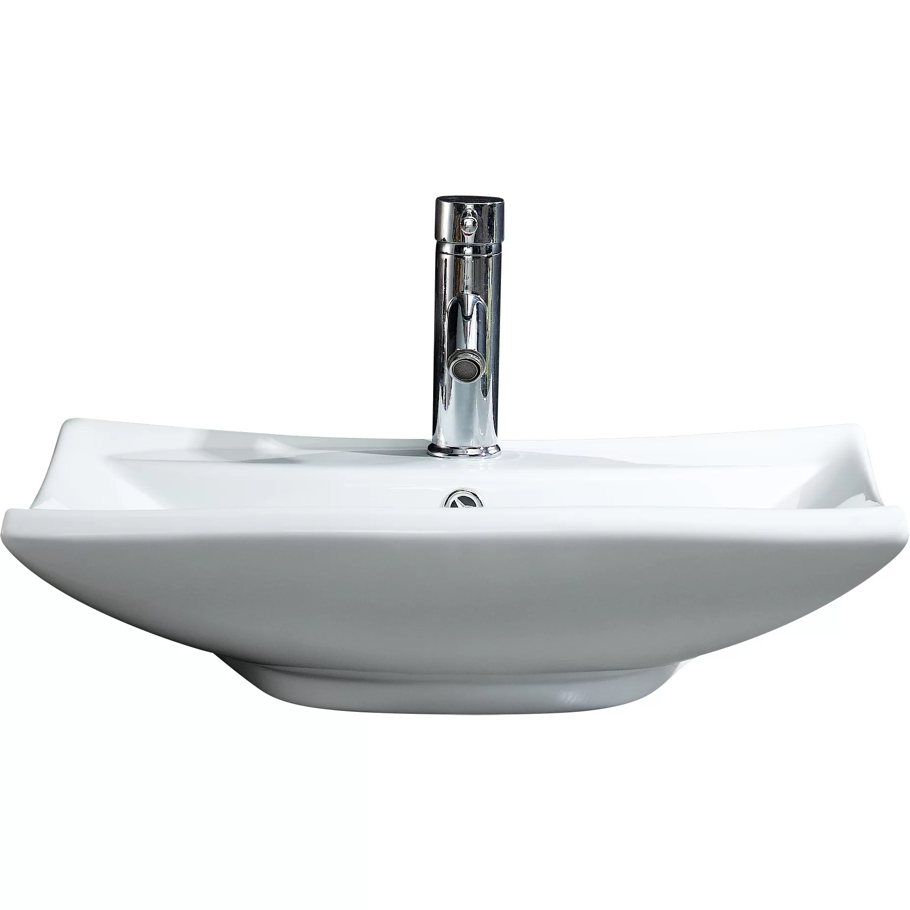 Fine Fixtures Modern Vitreous Square Vessel Sink Vessel