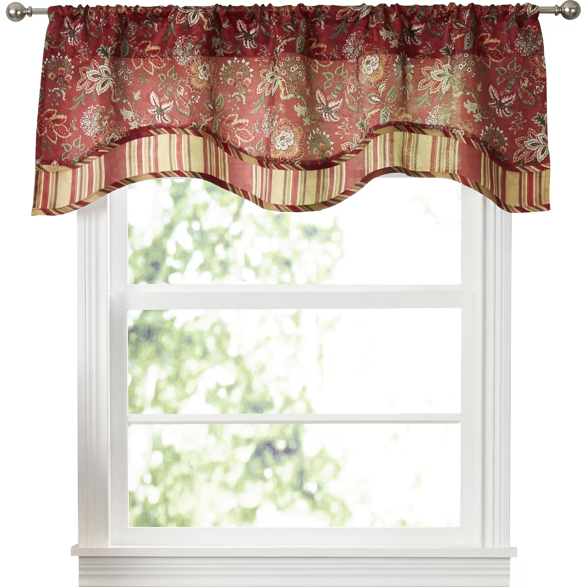 Traditions By Waverly Navarra Floral 52 Curtain Valance