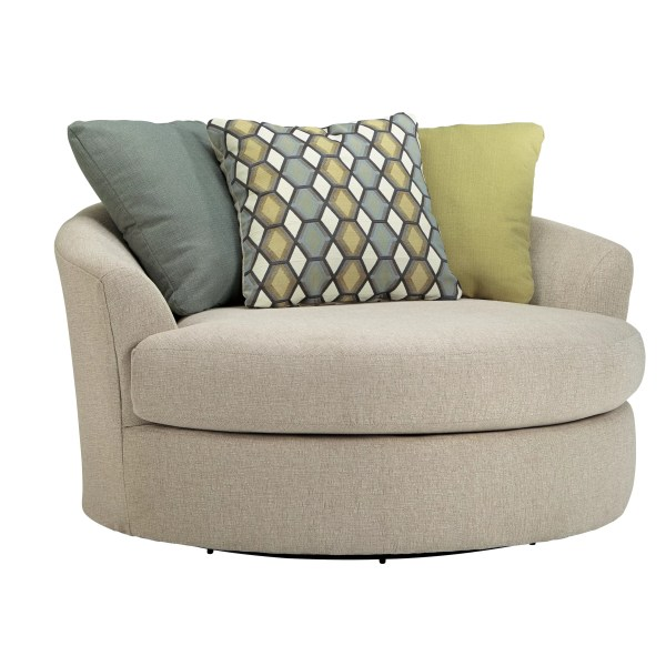 Oversized Swivel Barrel Chair