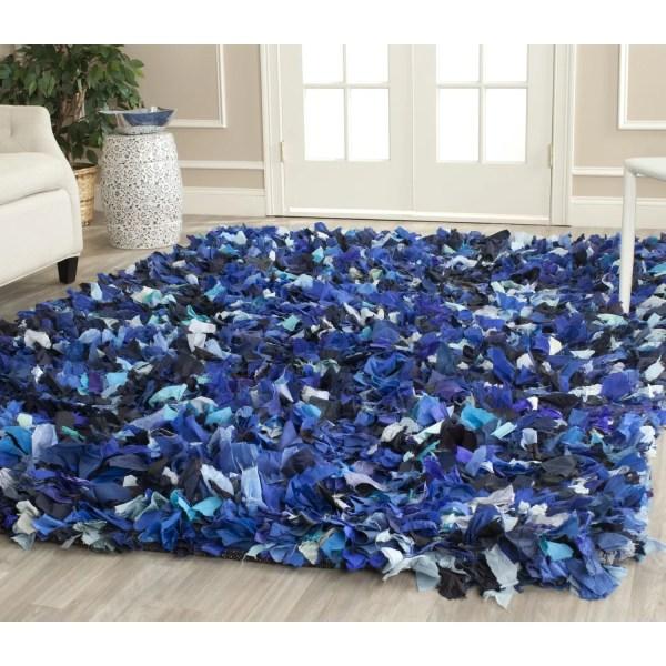 Safavieh Shag Blue & Black Area Rug