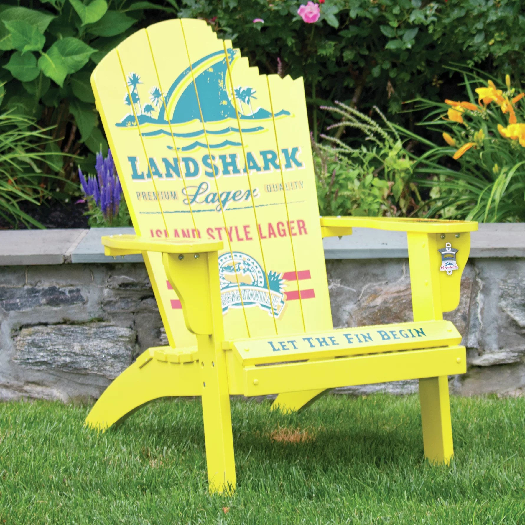 margaritaville chairs for sale grey floral chair covers quotlandshark quot adirondack and reviews