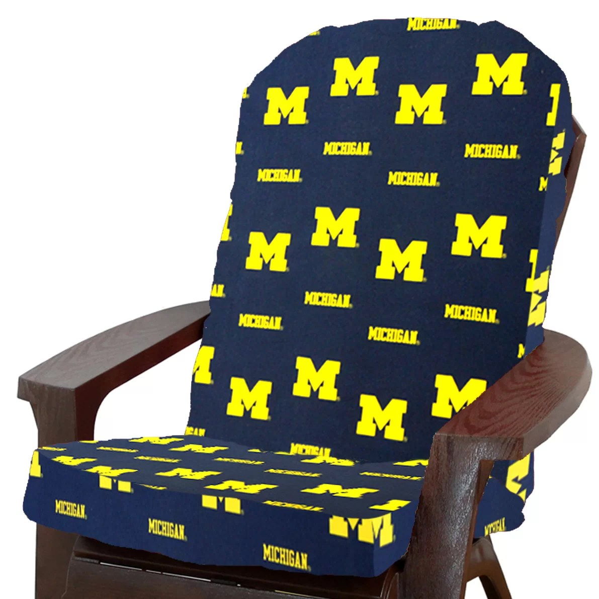 michigan adirondack chair wheel lifts college covers ncaa outdoor