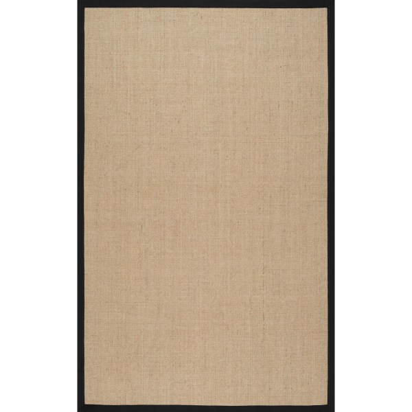 Sisal Area Rugs with Black Border 8 X 10