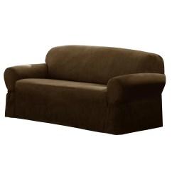 Sofa Slipcovers Three Cushions Shannon Corner Dfs Maytex T-cushion Loveseat/sofa Slipcover & Reviews | Wayfair