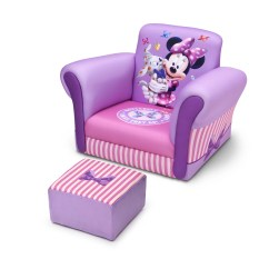 Minnie Mouse Upholstered Chair Childrens Bouncy Delta Children Kids Club