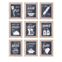 Woodland Imports 9 Piece Kitchen Inspirations Wall Decor