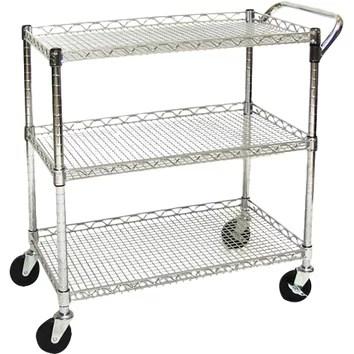 Seville Classics UltraZinc Shelf Commercial Utility Cart
