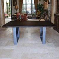 KovetHospitality Live Edge Steel Dining Table | Wayfair