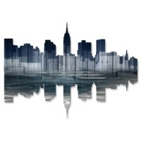 All My Walls New York City Reflection II Wall Dcor ...