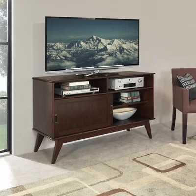 Simpli Home Draper Mid Century TV Stand  Reviews  Wayfair