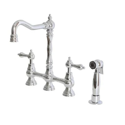 Belle Foret Double Handle Kitchen Faucet with Metal Lever