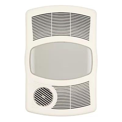 Broan 100 CFM Exhaust Bathroom Fan with Heater  Reviews  Wayfair