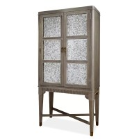 Milania Mirrored Wine Cabinet & Reviews
