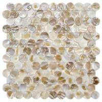 "Shayla 1"" x 1"" Seashell Mosaic Tile in Natural & Reviews ..."