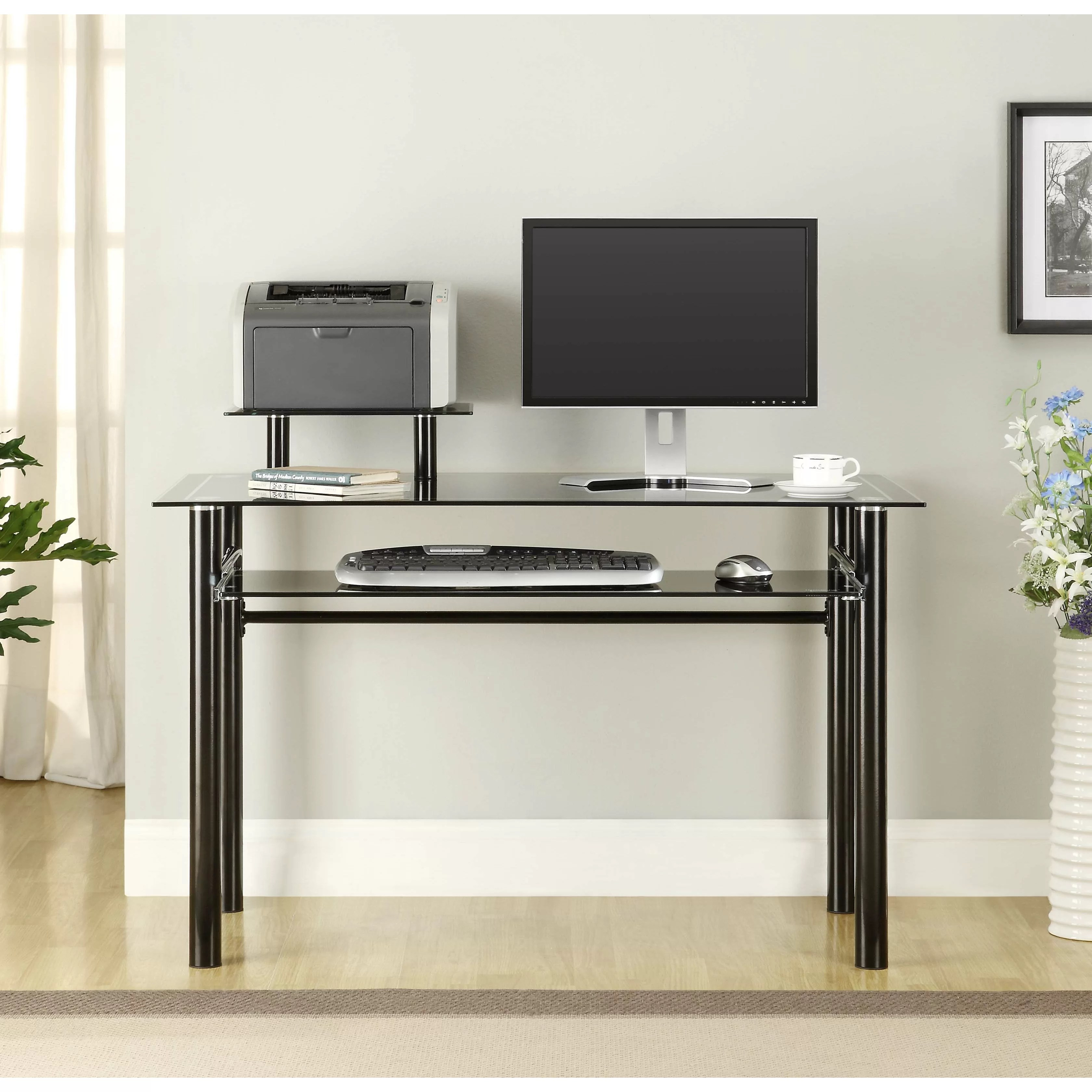 Innovex Glass Computer Desk  Reviews  Wayfair
