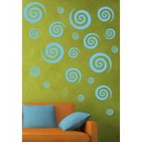 Alphabet Garden Designs Swirly Swirls Set Wall Decal ...