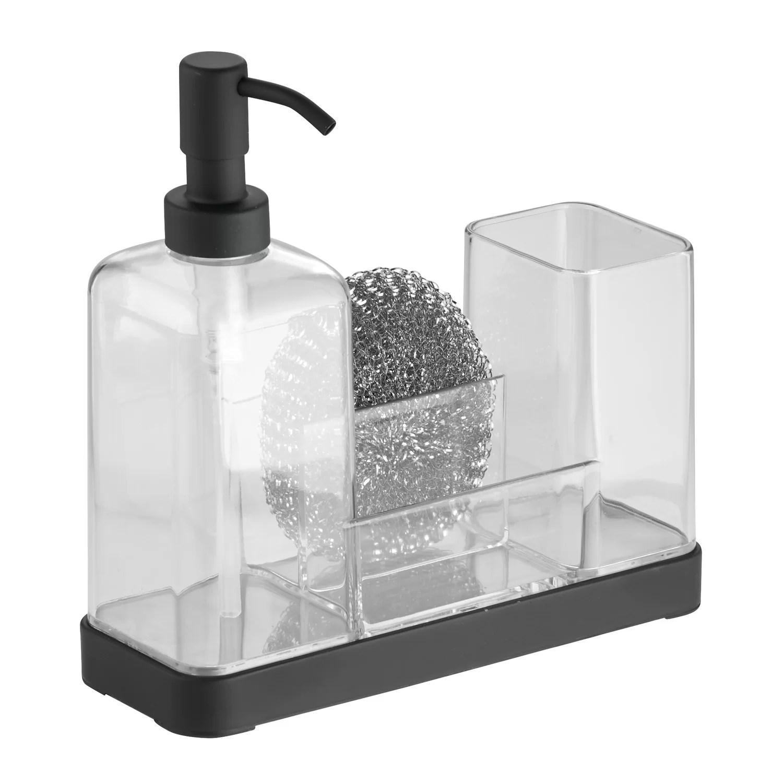 InterDesign Forma Kitchen Soap Dispenser Pump Sponge
