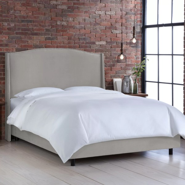 Skyline Furniture Wingback Upholstered Panel Bed &