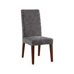Stretch Dining Chair Covers Yoga Sequences Sure Fit Jacquard Damask Slipcover