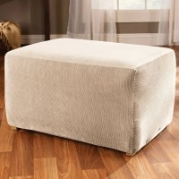 Sure Fit Stretch Stripe Ottoman Slipcover & Reviews | Wayfair