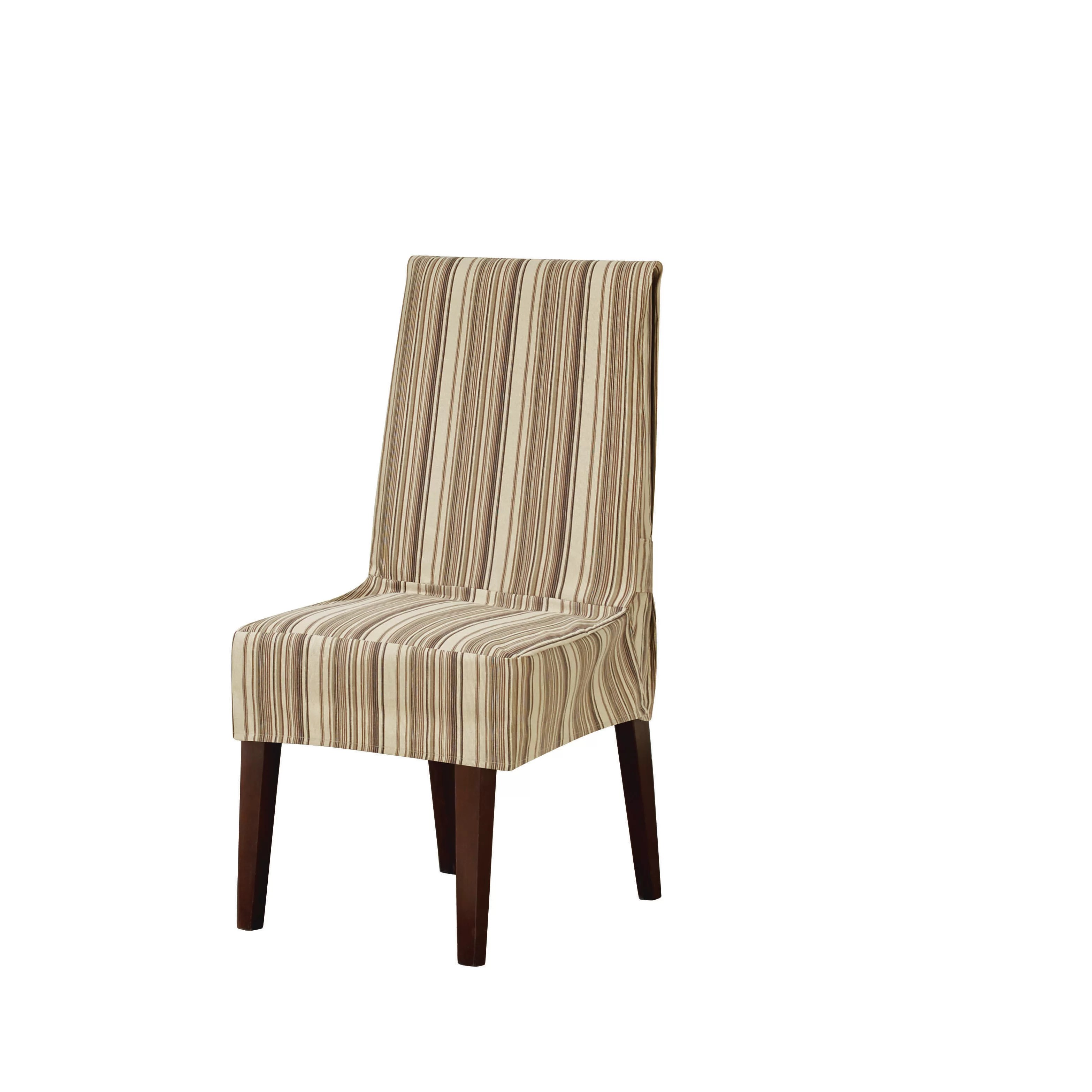 striped chair covers dining rooms hanging flipkart sure fit harbor stripe slipcover and reviews