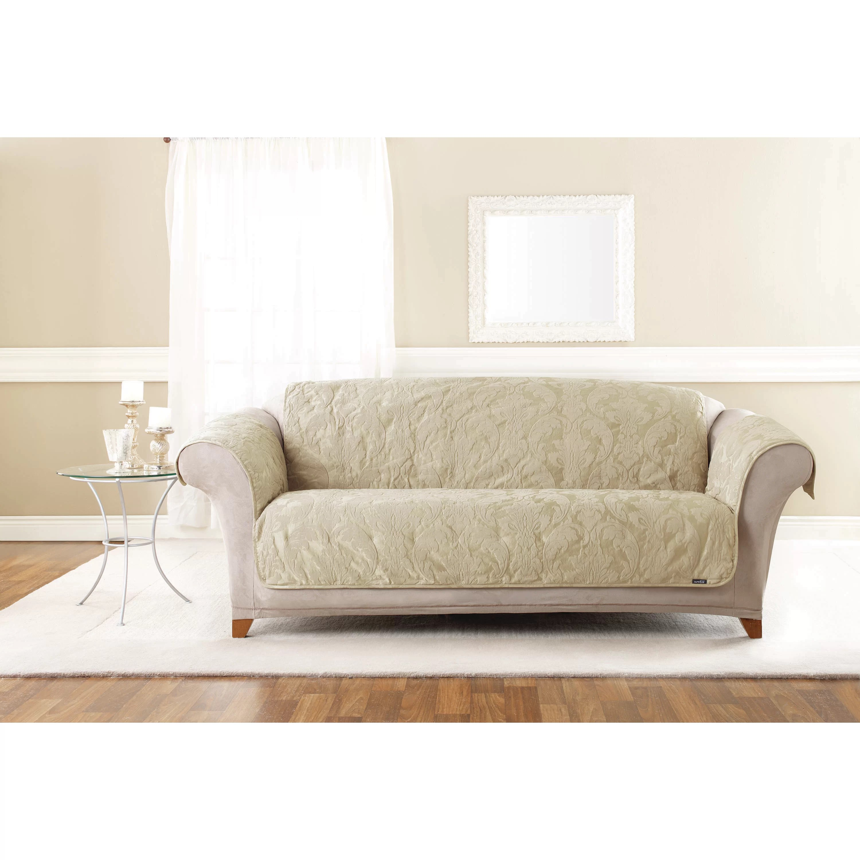 damask sofa bed queen size sleeper sofas furniture sure fit matelasse pet cover and reviews wayfair