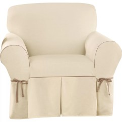 How To Slipcover A Chair With Arms White Velvet Dining Chairs Sure Fit Cotton Duck Arm And Reviews Wayfair