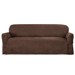 Faux Suede Sofa Cover Sisi Italia Leather Sure Fit Sectional Slipcovers Bestsciaticatreatments