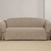 Sure Fit Textured Linen Polyester Sofa Slipcover   Wayfair.ca