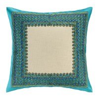Trina Turk Terranea Embroidered Linen Throw Pillow