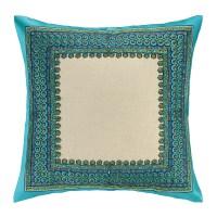 Trina Turk Terranea Embroidered Linen Throw Pillow   Wayfair