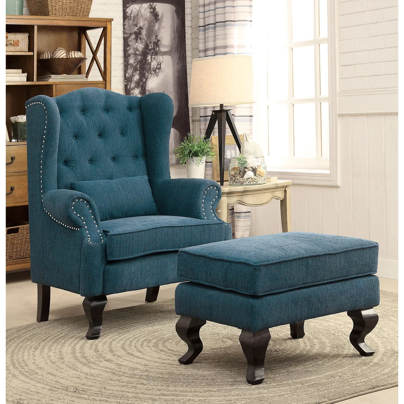 teal wingback chair knoll chadwick drafting enitiallab mareena and reviews wayfair