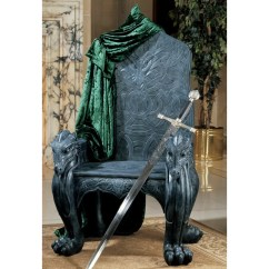 Game Of Thrones Office Chair Shower And Commode Design Toscano Celtic Dragon Throne Arm Wayfair