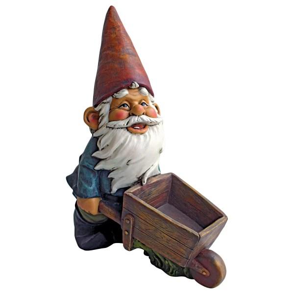 Design Toscano Wheel Barrel Willie Garden Gnome Statue &