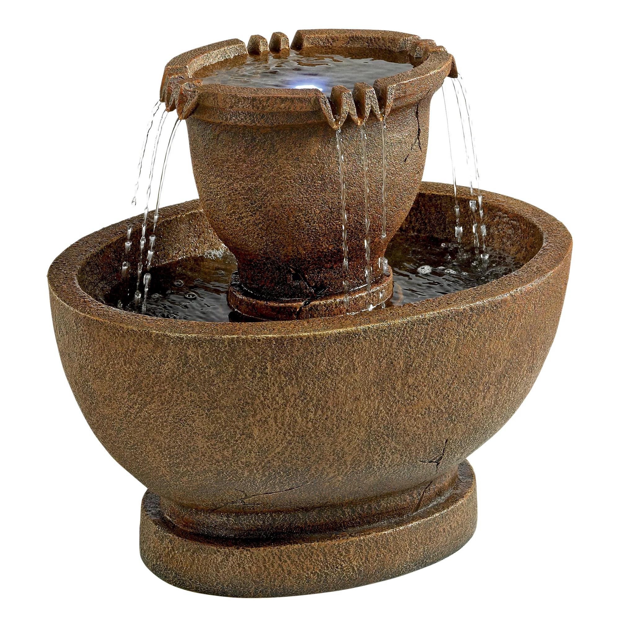 Design Toscano Resin Richardson Oval Urns Cascading Garden