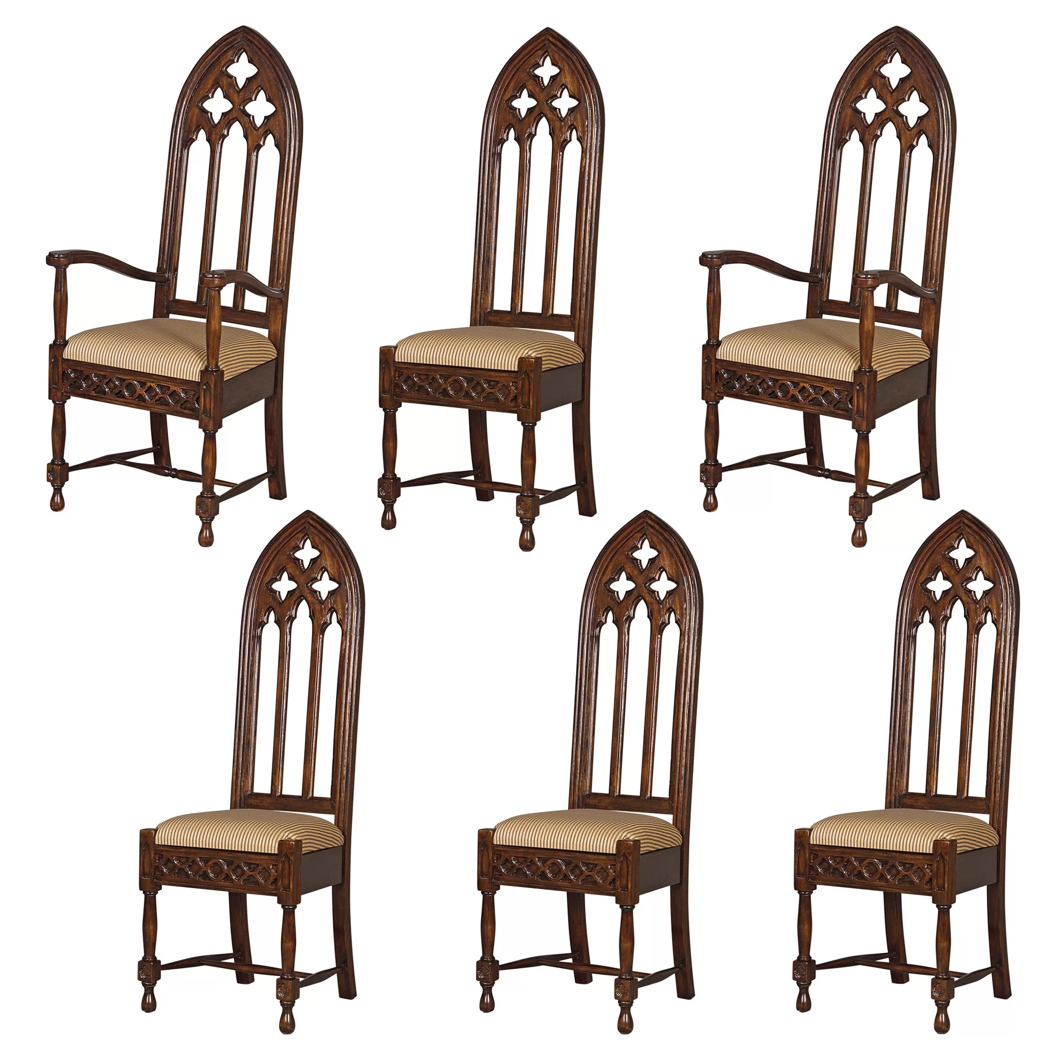 cathedral chairs cheap recliner chair design toscano 6 piece viollet le duc gothic