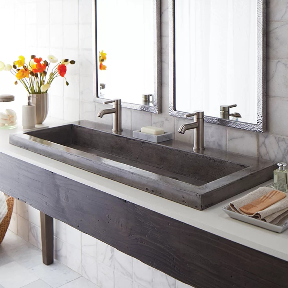 Native Trails Trough 48 Stone Bath Sink  Reviews  Wayfair