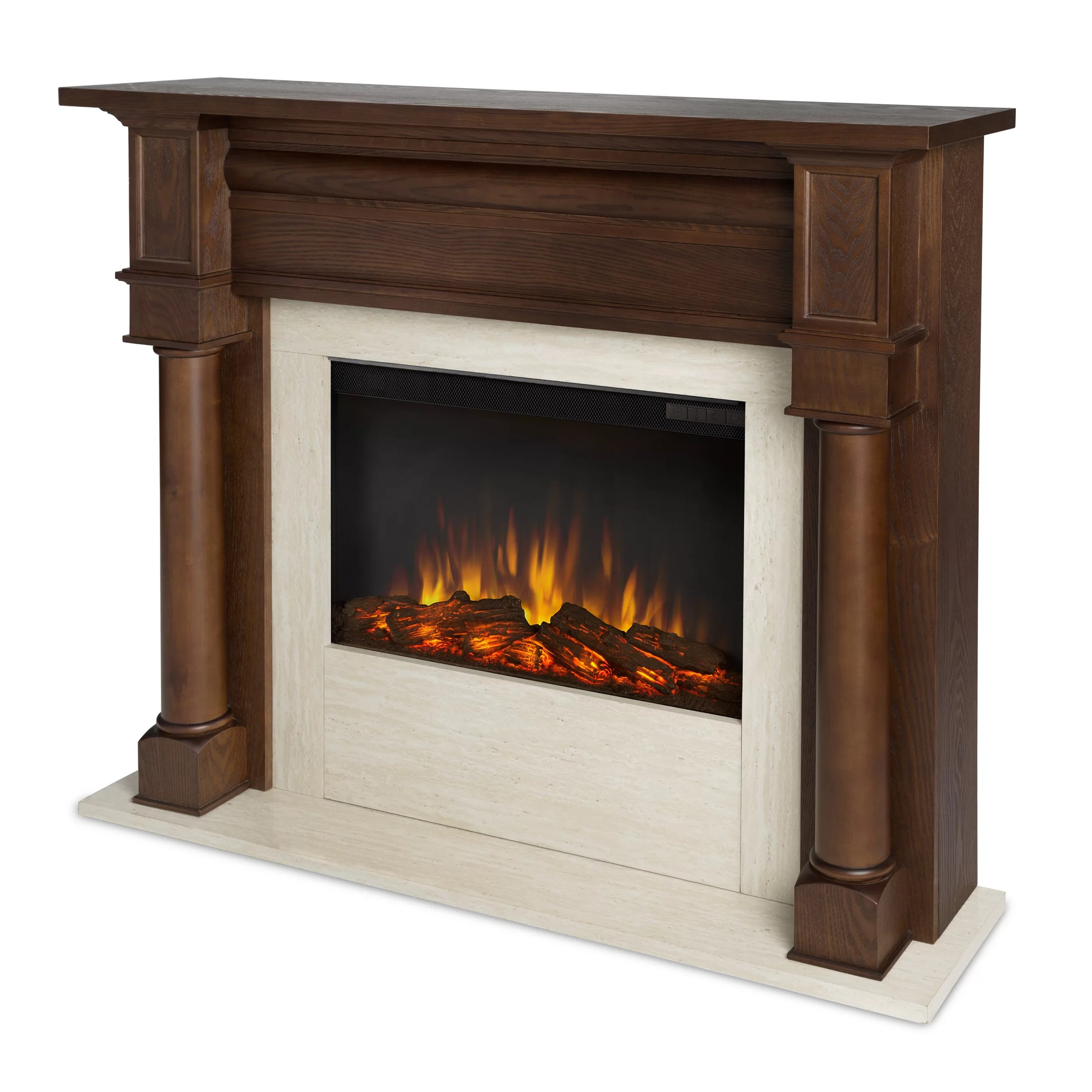 Electric Fireplace Reviews Real Flame Berkeley Electric Fireplace & Reviews | Wayfair