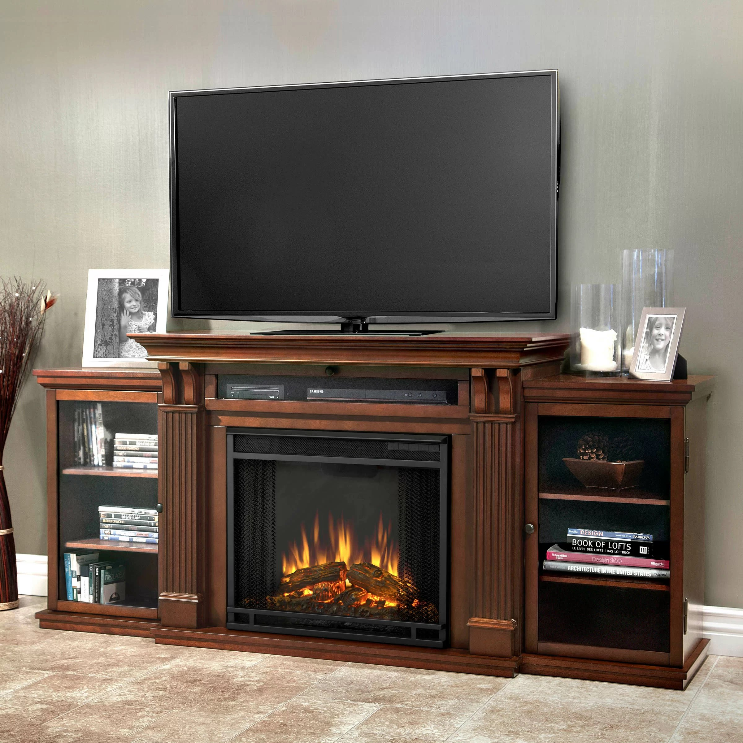 Real Flame Calie TV Stand with Electric Fireplace  Reviews  Wayfair