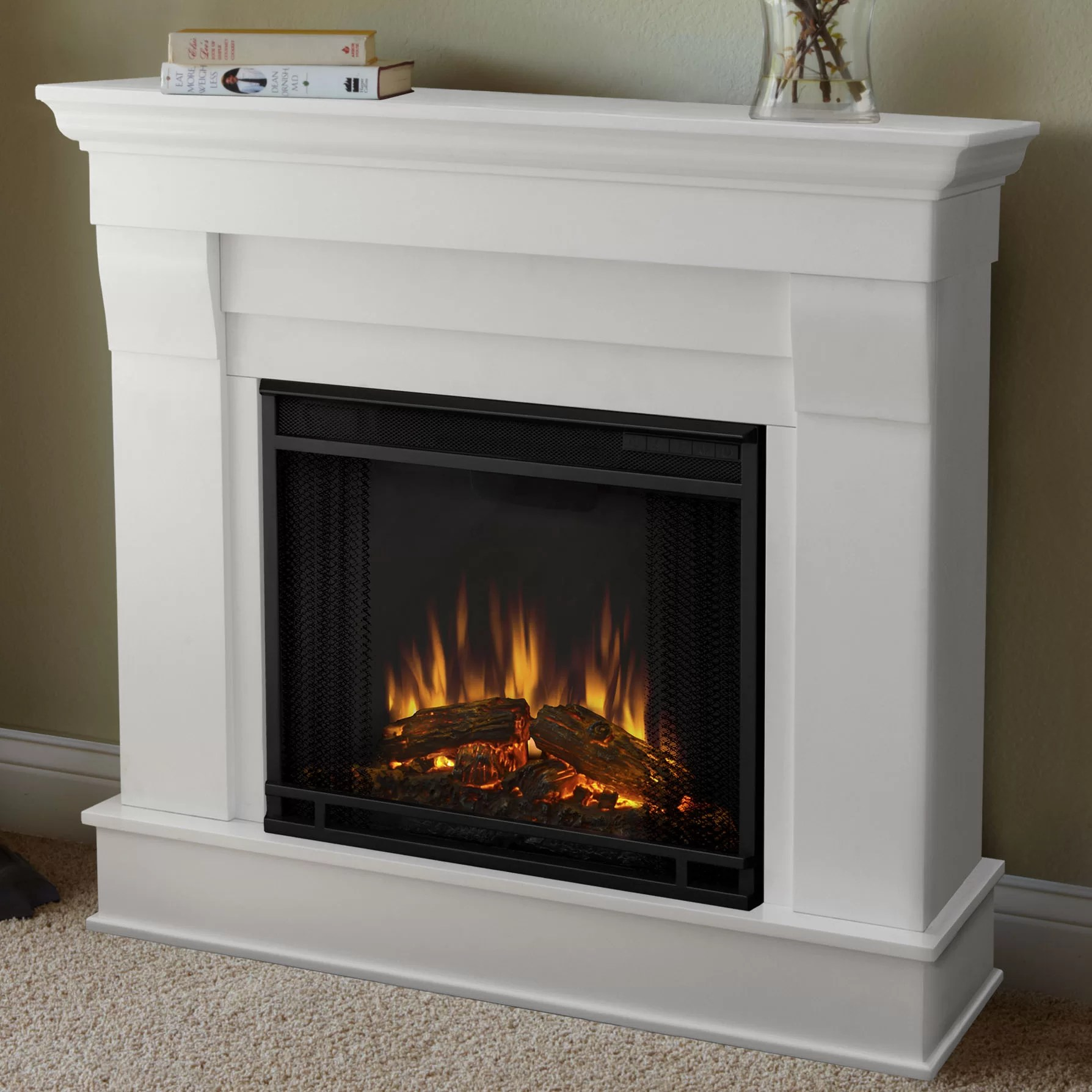 Electric Fireplace Reviews Real Flame Chateau Electric Fireplace & Reviews | Wayfair