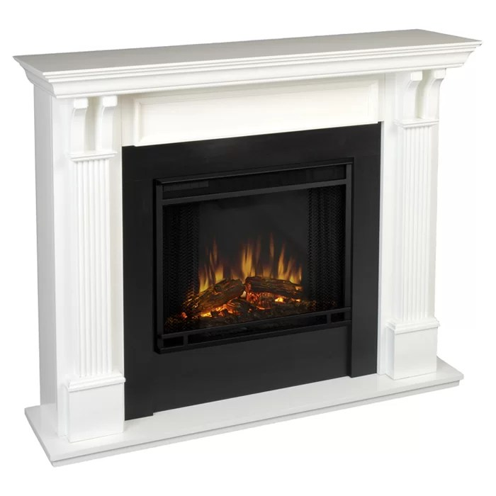 Fireplace Freestanding Flame Ashley Real