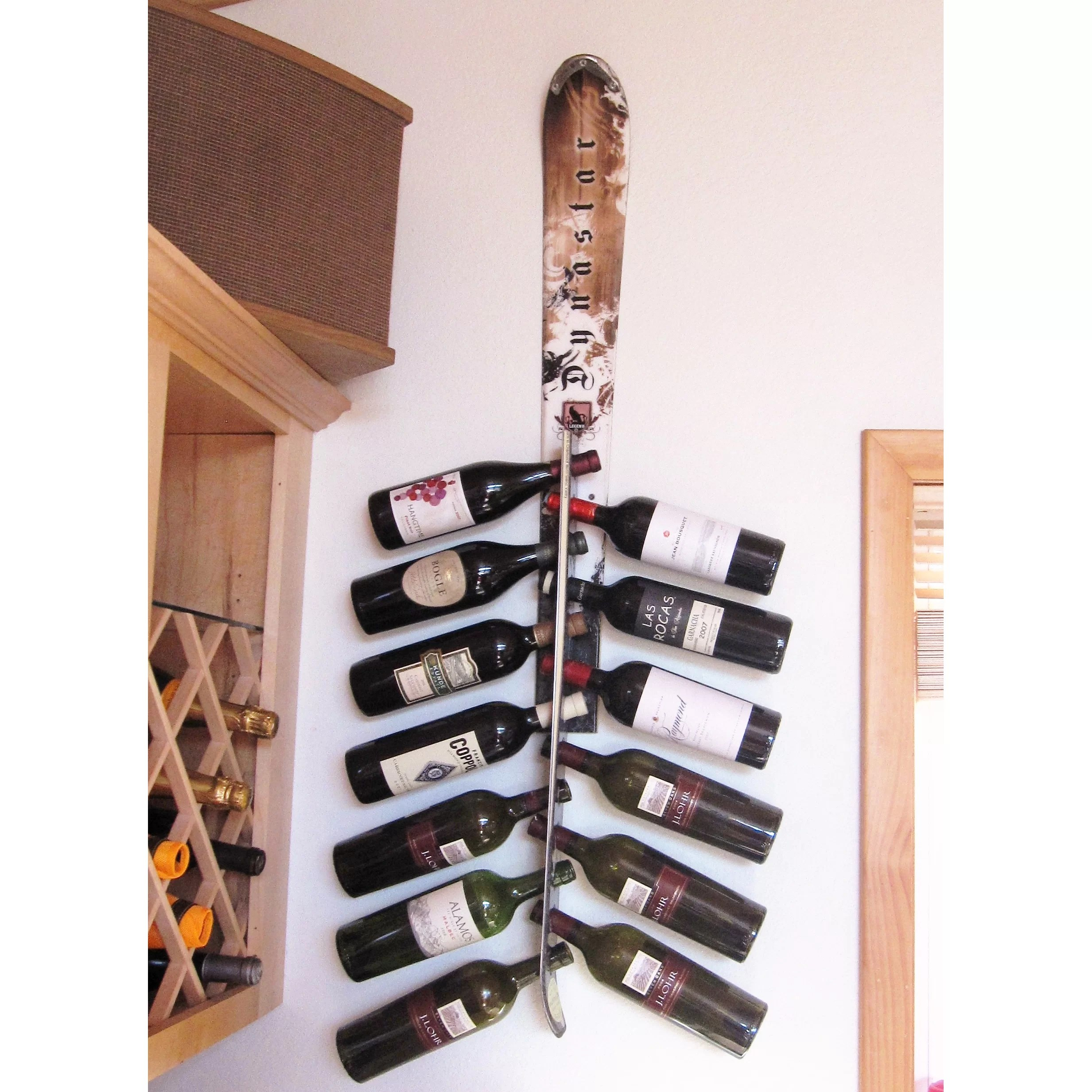 wall mounted chair rack balcony height patio chairs ski snow 13 bottle wine and reviews