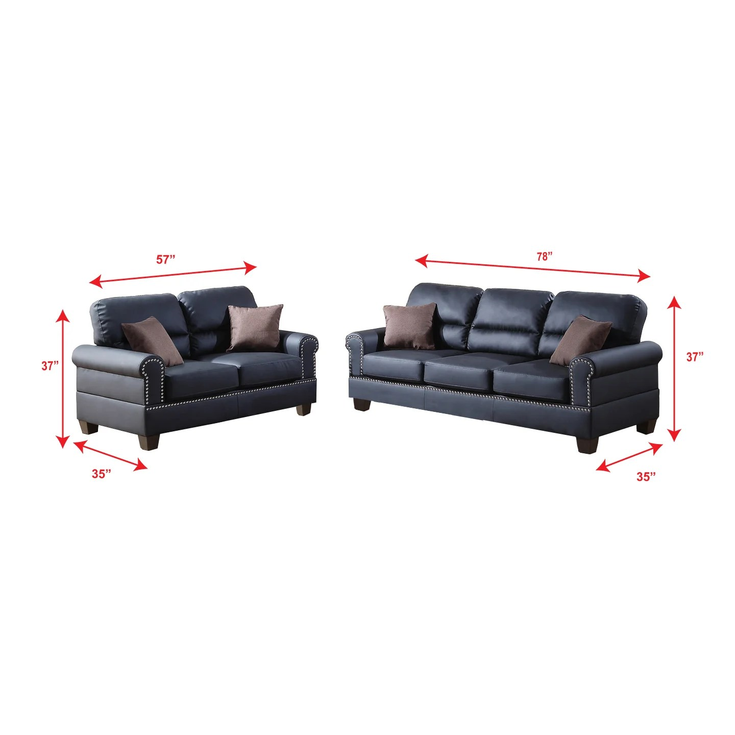 bobkona sectional sofa embly instructions rolled arm left chaise convertible bed poundex shelton 2 piece and loveseat set