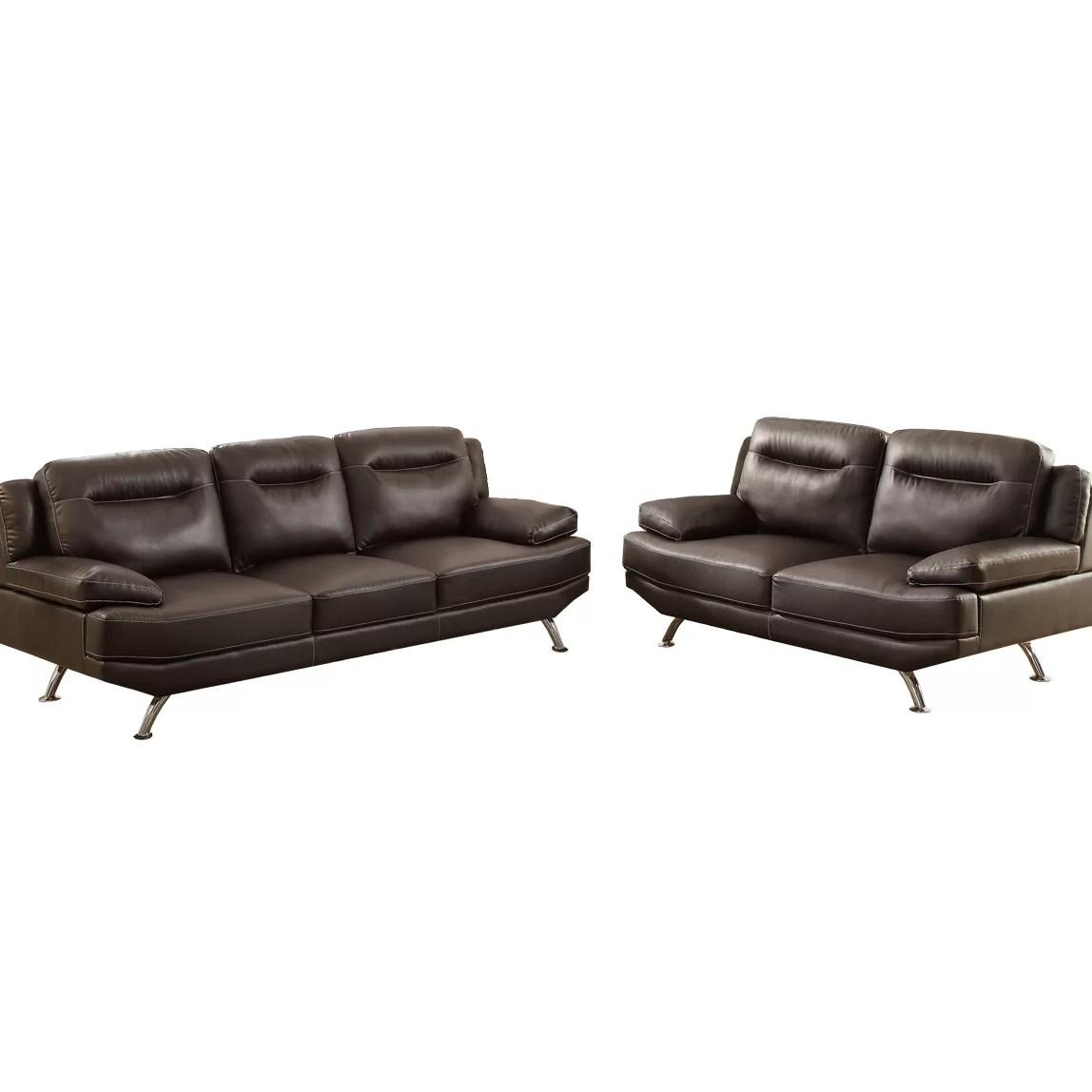 bobkona sectional sofa embly instructions craigslist vancouver poundex danville 2 piece and loveseat set