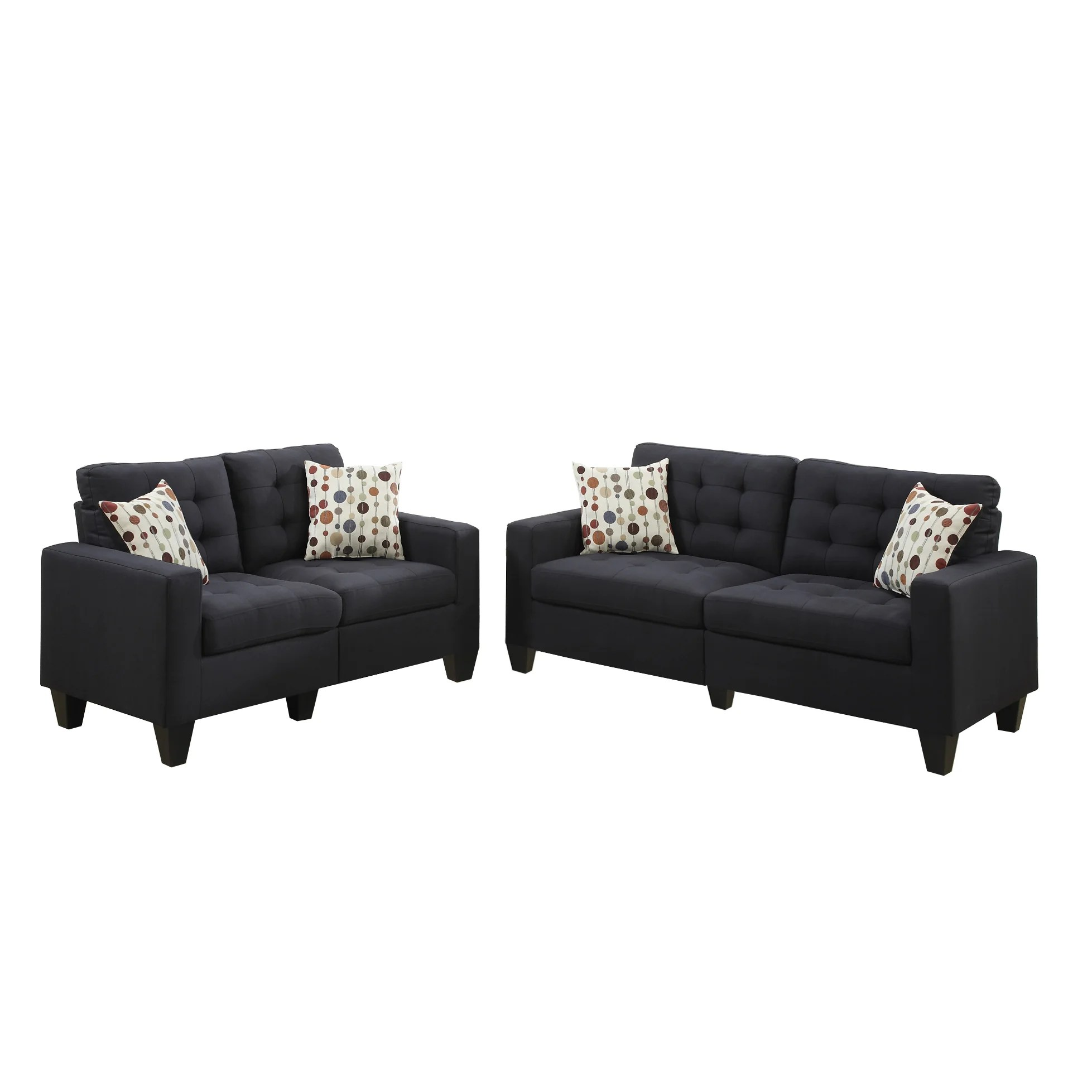 bobkona sectional sofa embly instructions short height sofas poundex windsor 2 piece and loveseat set