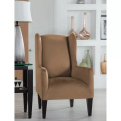Grey Christmas Chair Covers Lowes Patio Table And Chairs Perfect Fit Industries Tailor Wingback Slipcover