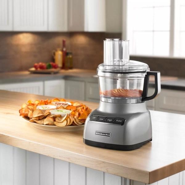 Kitchenaid 7 Piece 1.75 Qt. Food Processor With Exactslice System Set &